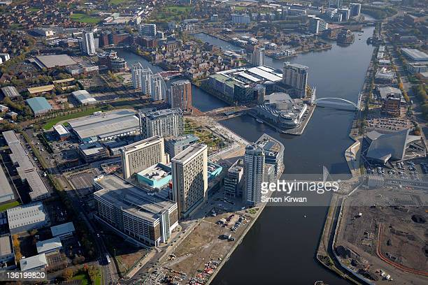 Salford Quays from air