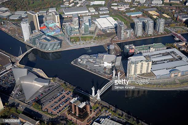 Salford Quays, Manchester from air
