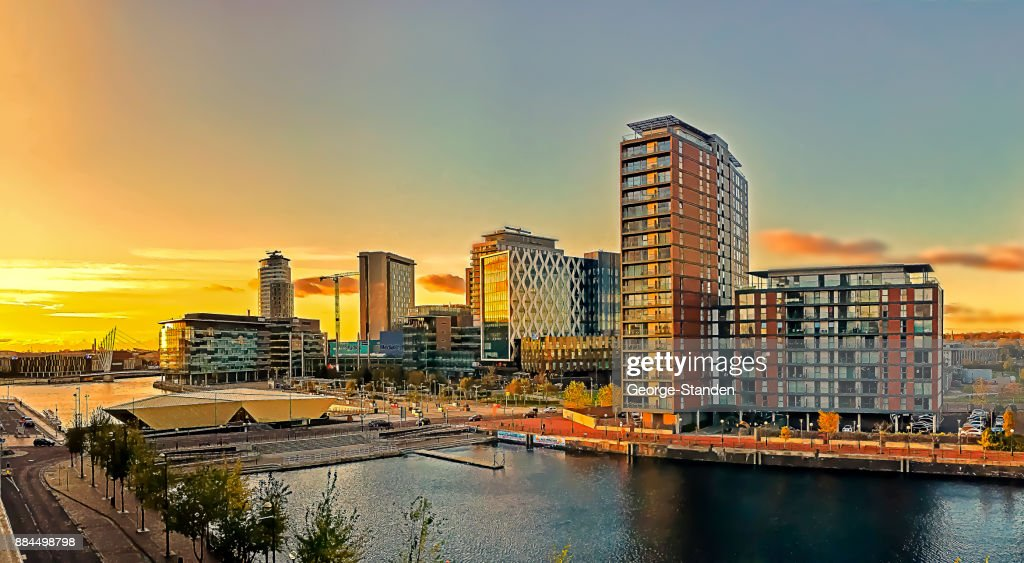 Salford Quays, Manchester : Stock Photo