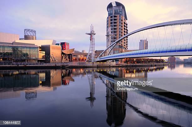 salford quays - manchester england stock photos and pictures