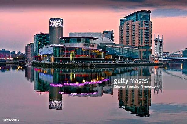 salford quays - manchester uk stock photos and pictures
