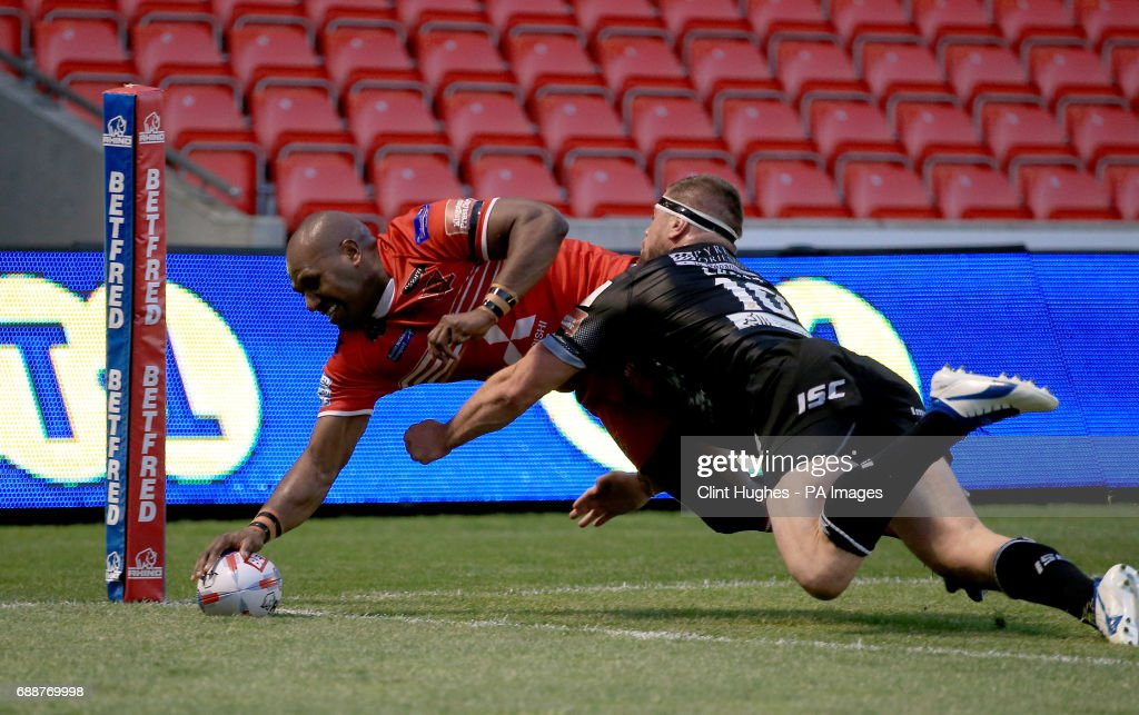 Salford v Catalans Dragons - Betfred Super League - AJ Bell Stadium : News Photo