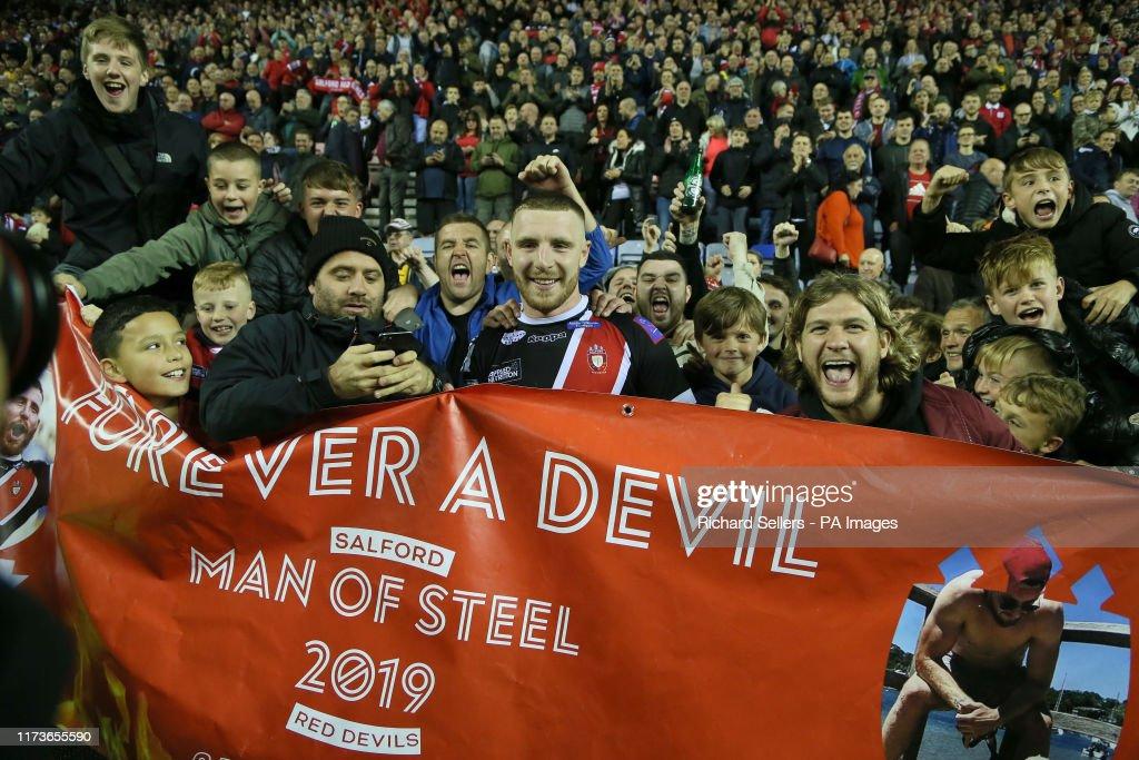 Wigan Warriors v Salford Red Devils - Betfred Super League - Semi Final - DW Stadium : News Photo