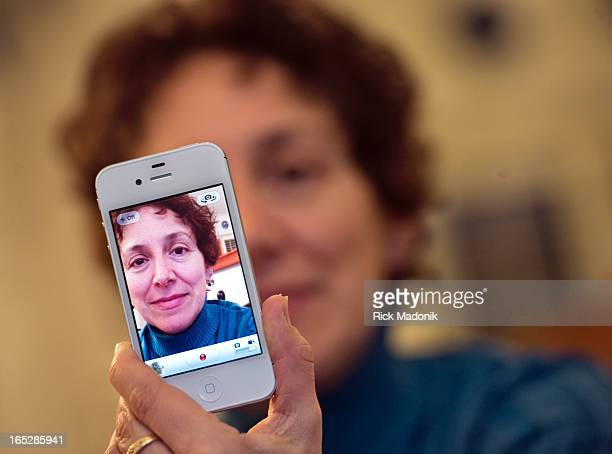 01/03/12 TORONTO ONTARIO Sali Tagliamonte seen in her new iPhone had her last phone stolen out of her hand last week She is upset that Apple does...