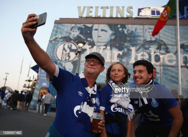 Salif Sané of FC Schalke 04 Daniel Caligiuri of FC Schalke 04 Matija Nastasic of FC Schalke 04 MarkAlexander Uth of FC Schalke 04 Ronaldo Aparecido...