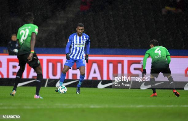 Salif Sané of Hannover 96 Salomon Kalou of Hertha BSC and Julian Korb of Hannover 96 during the game between Hertha BSC and Hannover 96 on december...