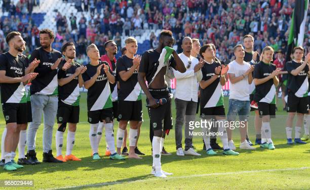Salif Sane of Hannover 96 after the Bundesliga game between Hannover 96 and Hertha BSC at HDI Arena on May 5 2018 in Hannover Germany
