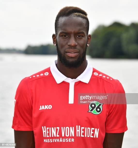 Salif Sane of Hannover 96 poses during the team presentation at on July 14 2017 in Hanover Germany