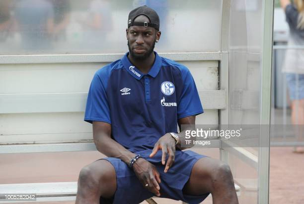 Salif Sane of Schalke looks on during the Friendly match between Schwarz Weiss Essen and FC Schalke 04 on July 21 2018 in Essen Germany