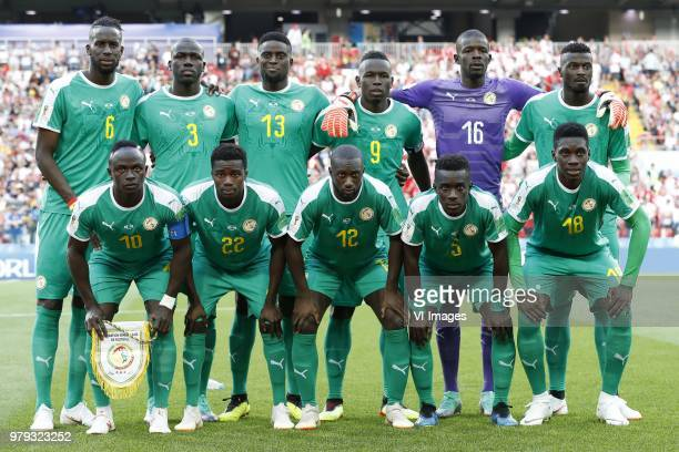 Salif Sane of Senegal Kalidou Koulibaly of Senegal Alfred N Diaye of Senegal Mame Biram Diouf of Senegal goalkeeper Khadim NDiaye of Senegal MBaye...