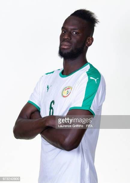 Salif Sane of Senegal poses for a portrait during the official FIFA World Cup 2018 portrait session at the Team Hotel on June 13 2018 in Kaluga Russia