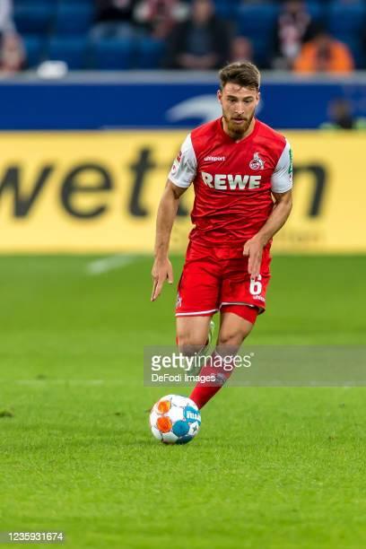 Salih Oezcan of 1.FC Koeln controls the Ball during the Bundesliga match between TSG Hoffenheim and 1. FC Köln at PreZero-Arena on October 15, 2021...