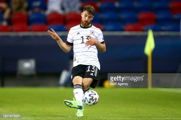 Salih Ozcan of Germany U21 during the 2021 UEFA European Under-21 Championship Semi-Finals match between Netherlands and Germany at MOL Arena Sosto...