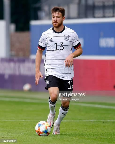 Salih Ozcan of Germany U21 during the match between Belgium U21 v Germany U21 at the Stadium De Dreef on September 8, 2020 in Leuven Belgium