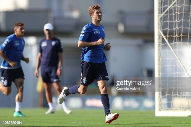 Salih Ucan of Empoli FC in action during training session on September 18 2018 in Empoli Italy