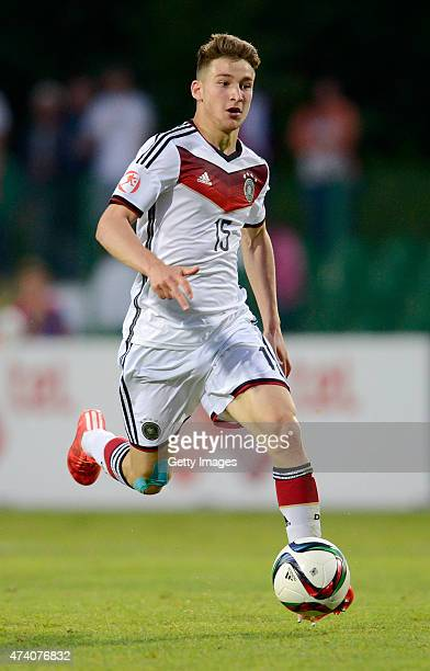 Salih zcan of Germany U17 in action during the UEFA European Under17 Championship Semi Final match between Germany U17 and Russia U17 at Beroe...