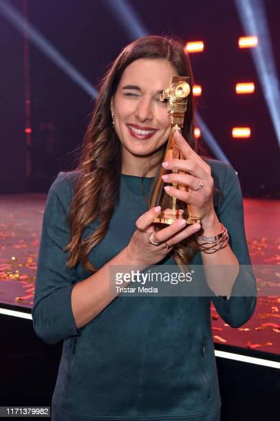 Saliha Oezcan attends the YouTube Goldene Kamera Digital Awards at Kraftwerk on September 26 2019 in Berlin Germany
