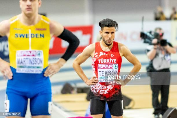 Salik TEKSZ competing in the 800m Men event during day ONE of the European Athletics Indoor Championships 2019 at Emirates Arena in Glasgow Scotland...