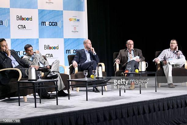Salil Dalvi VP of NBC Universal John Najarian SVP of E Entertainment Televsion David Dorn SVP of Rhino Entertainment Brian Seth Hurst moderator and...