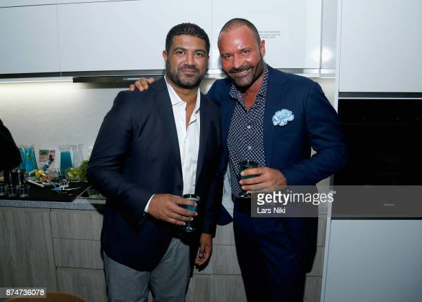Salil Panicker and Riccardo Paletti attend the Blu Perfer Blue Brut Launch Party for The 2018 8th annual Better World Awards on November 15 2017 in...