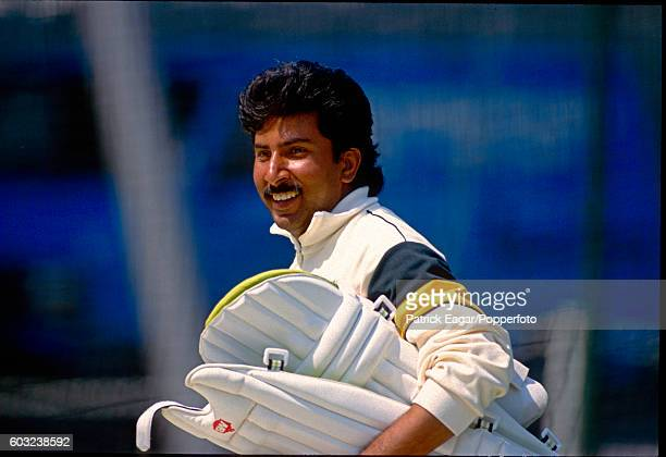 Salim Malik of Pakistan at net practice during Pakistan's tour of England 19th May 1992