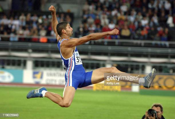 Salim Sdiri of France was fifth in the men's long jump with a windaided 2611 1/4 in the IAAF World Championships in Athletics at Olympic Stadium in...