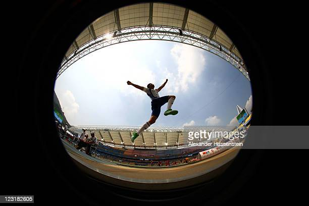 Salim Sdiri pf France competes in the men's long jump qualification round during day six of the 13th IAAF World Athletics Championships at the Daegu...