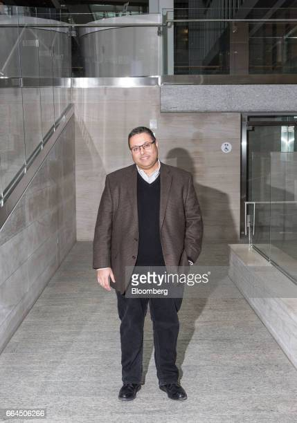 Salim Teja executive vice president of MaRS Discovery District stands for a photograph at the company's building in Toronto Ontario Canada on Tuesday...