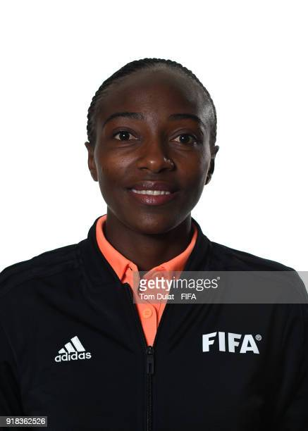 Salima Mukansanga of Rwanda poses for photographs during the FIFA Women's Referee Seminar on February 14 2018 in Doha Qatar