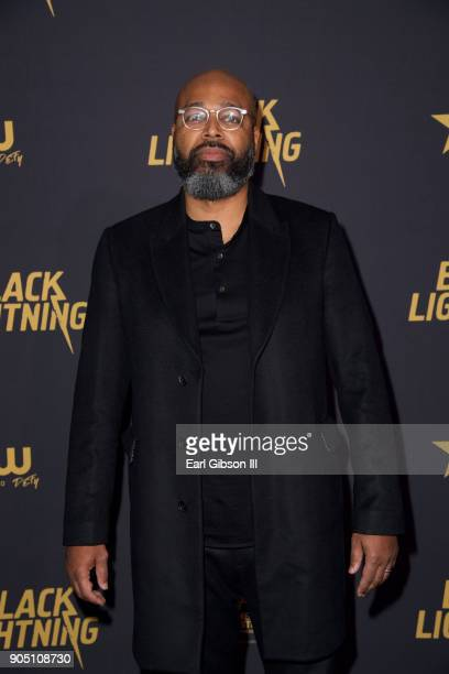 Salin Akil executive producer attends the 'Black Lightning' World Premiere at National Museum Of African American History Culture on January 13 2018...