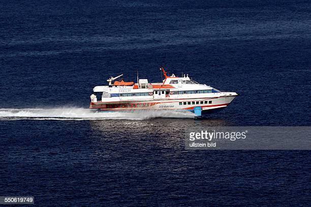 Salina Aliscalfo hydrofoil craft Eolic Islands Sicily Italy