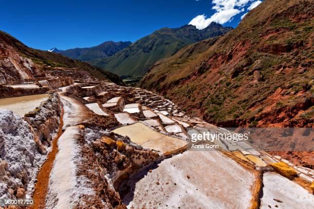 Salinas de Maras salt evaporation ponds in Cusco region, Peru