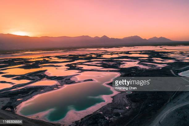 saline soda lake - alkaline stock pictures, royalty-free photos & images
