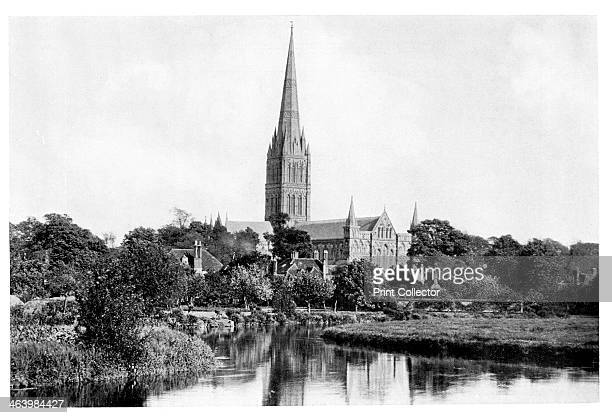 Salisbury Cathedral, 1901. Photo published in The Process Year Book, by AW Penrose & Co, London, 1901.