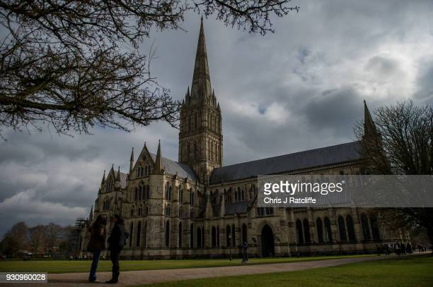 Salisbury Cathedral as investigations continue into the poisoning of Sergei Skripal on March 12 2018 in Salisbury England Sergei Skripal who was...