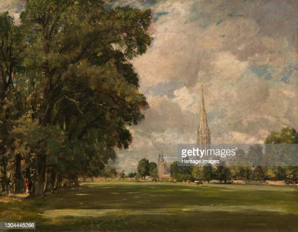 Salisbury Cathedral from Lower Marsh Close, 1820. Artist John Constable.