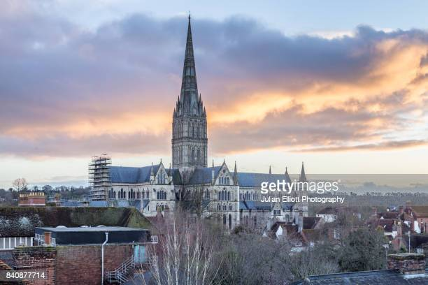 Salisbury cathedral in the south-west of England.