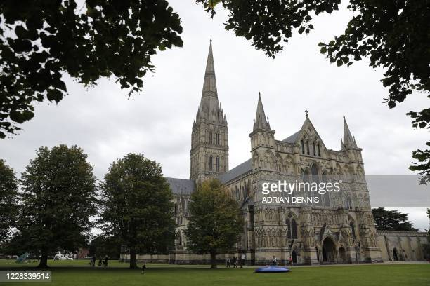 Salisbury Cathedral is seen in Salisbury southern England on September 4 2020 A long way from the violent cauldron of Russian politics the...