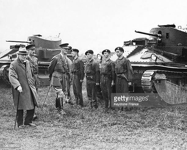 Salisbury Plain The Chancellor Of The Exchequer Winston Churchill In The 1920'S