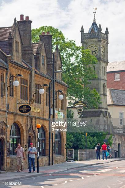salisbury's clock tower - gwengoat stock pictures, royalty-free photos & images