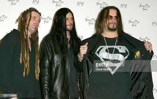 Saliva during The 30th Annual American Music Awards Press Room at Shrine Auditorium in Los Angeles California United States