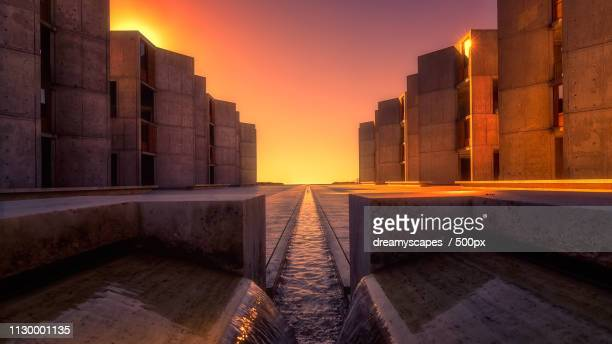 salk institute at sunset - la jolla stock pictures, royalty-free photos & images