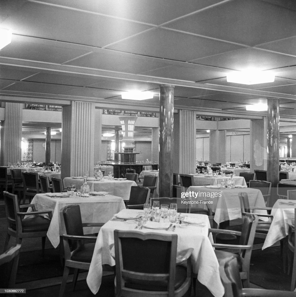 Salle A Manger Du Paquebot De Grasse En 1947 En France News