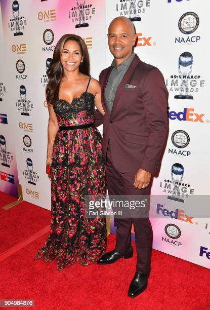 Salli Richardson and Dondre Whitfield at the 49th NAACP Image Awards NonTelevised Awards Dinner at the Pasadena Conference Center on January 14 2018...
