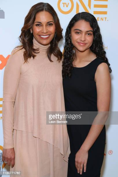 Salli Richardson and her daughter Parker Whitfield attend 50th NAACP Image Awards Nominees Luncheon Arrivals at Loews Hollywood Hotel on March 09...