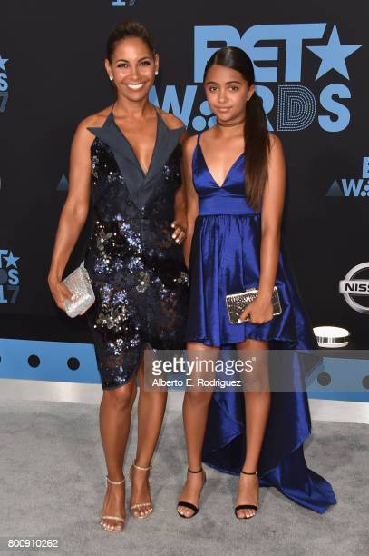 Salli Richardson and Parker Richardson Whitfield at the 2017 BET Awards at Microsoft Square on June 25 2017 in Los Angeles California