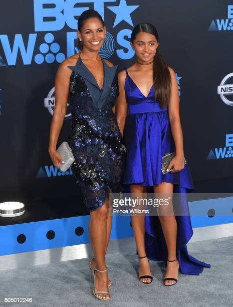 Salli Richardson and Parker Richardson Whitfield attend the 2017 BET Awards at Microsoft Theater on June 25 2017 in Los Angeles California