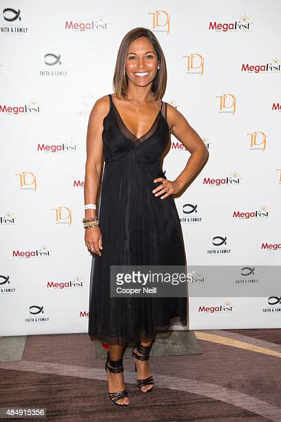 Salli Richardson poses for a photograph at MegaFest on August 22 2015 in Dallas Texas