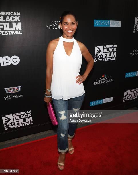 Salli Richardson Whitfield attends 2017 American Black Film Festival on June 14 2017 in Miami Florida