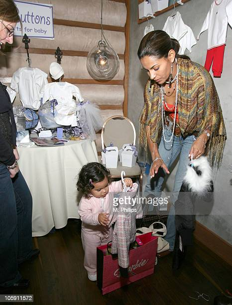 Salli RichardsonWhitfield and daughter Parker during Golden Globe Gifting Suite Boom Boom Room at Roosevelt Hotel in Hollywood CA United States